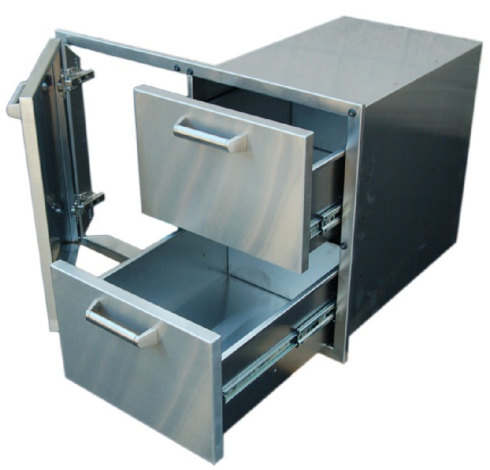 Pcm Bbq Island 36 226 Door And Drawer Combo Unit Stainless Steel