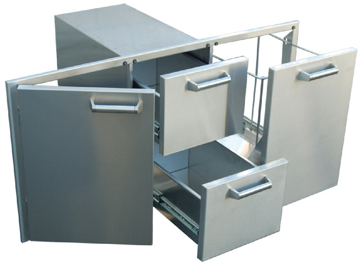 Bbq Island  Door And Drawer Combo Unit Stainless Steel