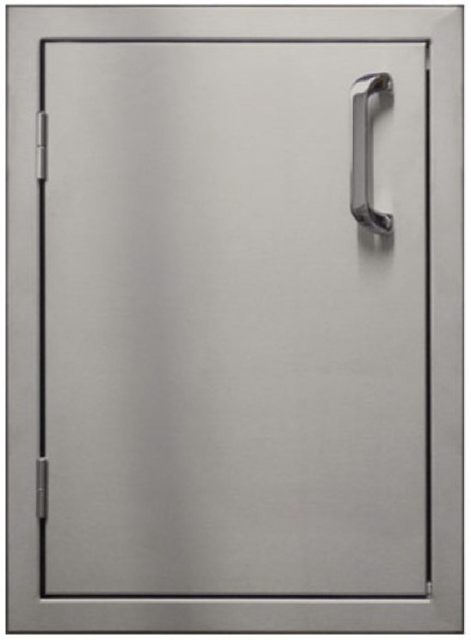 Stainless Access Doors : Access door for bbq island vertical stainless steel